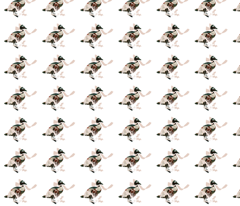 A Vintage Christmas Goose fabric by karenharveycox on Spoonflower - custom fabric