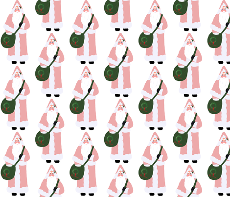 Pink Santa fabric by karenharveycox on Spoonflower - custom fabric