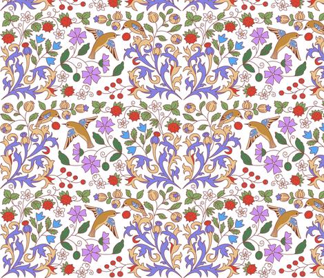 Medieval Calendar Inspiration  fabric by nikishor on Spoonflower - custom fabric