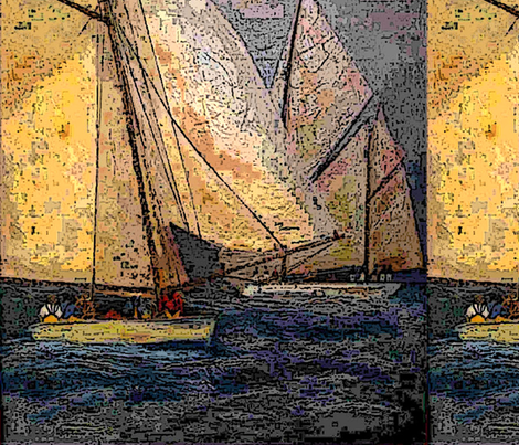 Night sailing fabric by nalla on Spoonflower - custom fabric