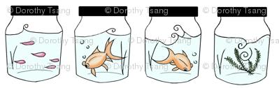 Goldfish in jars