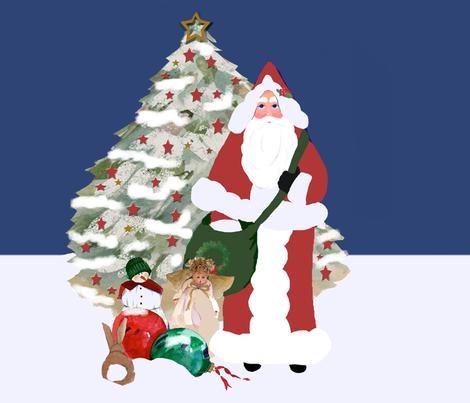 Father Christmas 2010 fabric by karenharveycox on Spoonflower - custom fabric