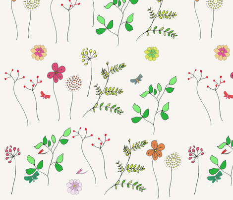 Meadows fabric by 5u5an on Spoonflower - custom fabric