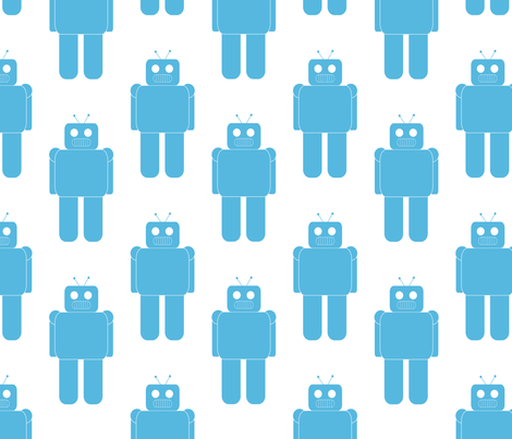 What_would_the_robot_do_ fabric by ambette on Spoonflower - custom fabric