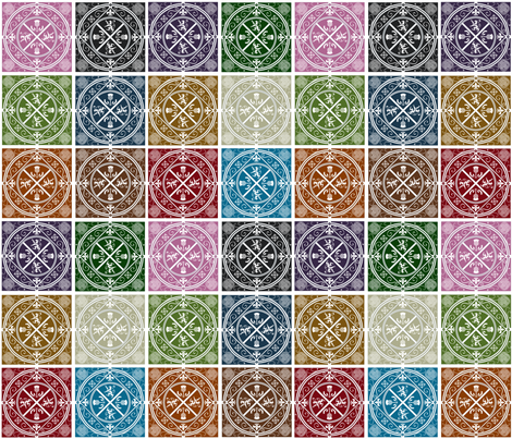 Medieval_Scotland_Patchwork_II fabric by eclectic_mermaid on Spoonflower - custom fabric