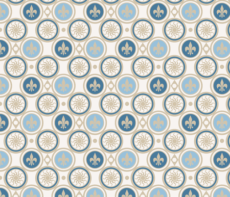 Blue Henricus fabric by poetryqn on Spoonflower - custom fabric