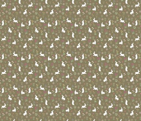 la Dame aux lapins fabric by papier_chiffon on Spoonflower - custom fabric
