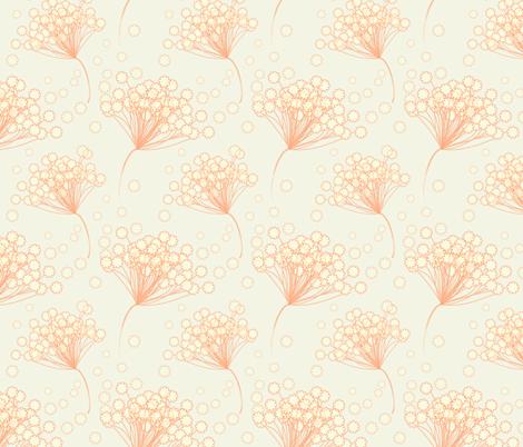 Orange Lace Flower fabric by emmyupholstery on Spoonflower - custom fabric