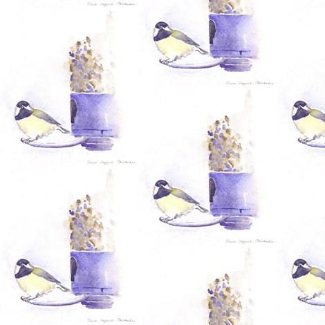 chickadee fabric by loveitaly on Spoonflower - custom fabric