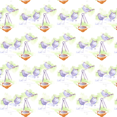 catbird fabric by loveitaly on Spoonflower - custom fabric
