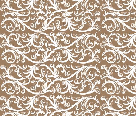 Bye Bye Birdie Brown Background fabric by creationsbycrissy on Spoonflower - custom fabric