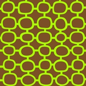 Mod Circles Lime 'n' Brown