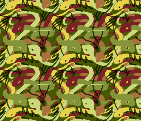 Camouflage Snakes fabric by vinpauld on Spoonflower - custom fabric