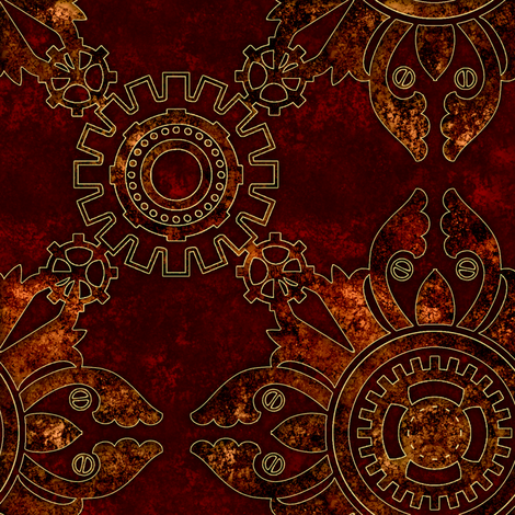 Steampunk Simple 2 fabric by jadegordon on Spoonflower - custom fabric