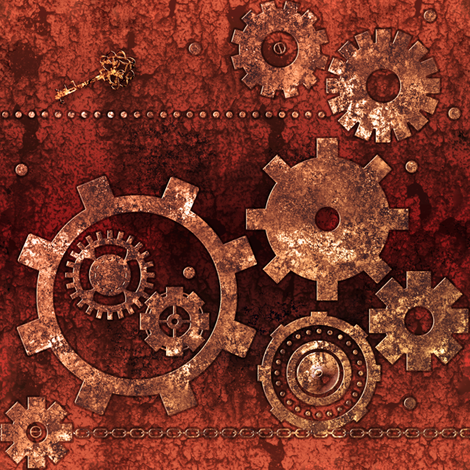Gears fabric by jadegordon on Spoonflower - custom fabric