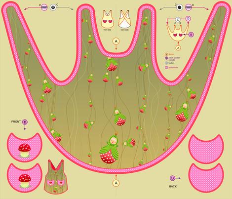 summer garden apron  fabric by vina on Spoonflower - custom fabric