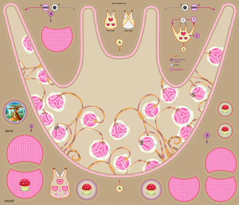 """Sleeping Beauty"" Apron fabric by vina on Spoonflower - custom fabric"
