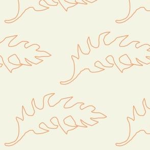 Foliage Outline - Orange