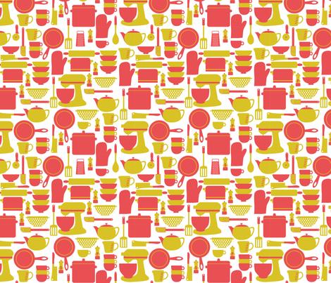 Kitchen Utensils fabric by srbracelin on Spoonflower - custom fabric