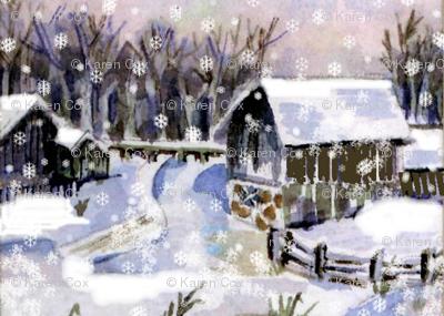 A snowy, snowy night