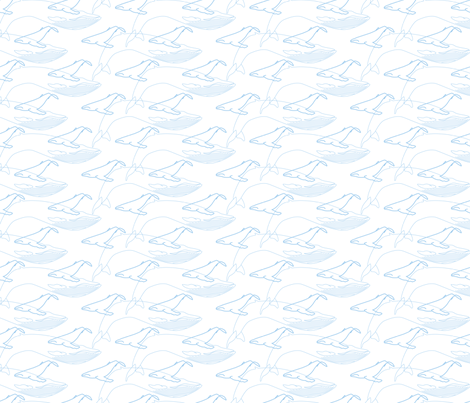 Whales, BLue fabric by lab31 on Spoonflower - custom fabric