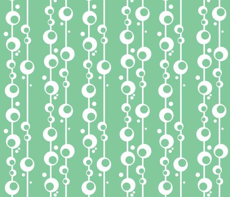 Bubbles in Seafoam fabric by delsie on Spoonflower - custom fabric