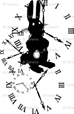 Rabbit Late (black on white)