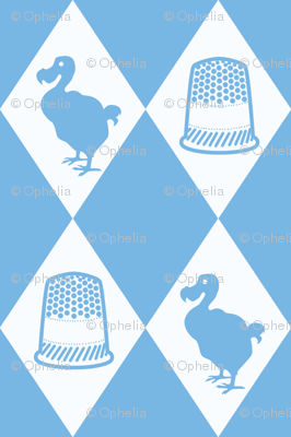 Alice Dodo & Thimble Pattern (blue and white)