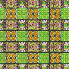 Suzani Squares Lime