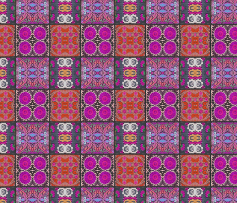Suzani Squares Violet fabric by les68 on Spoonflower - custom fabric