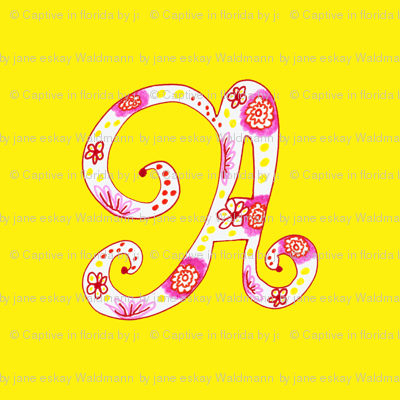 Letter A in Yellow