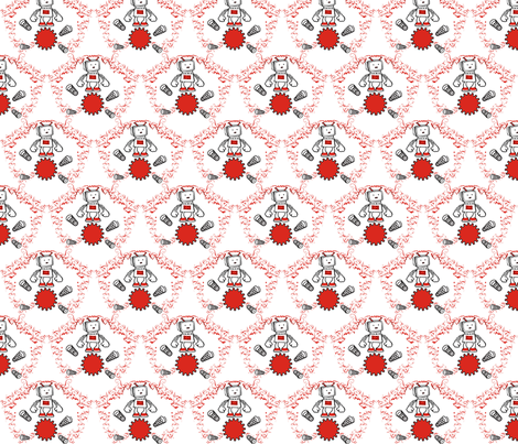 Robot_Pattern fabric by klauterbach on Spoonflower - custom fabric
