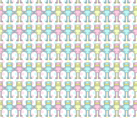 United Robots  fabric by zoel on Spoonflower - custom fabric