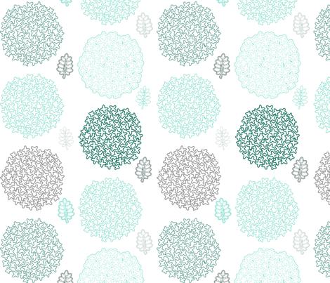 Flowers - the blues fabric by mrshervi on Spoonflower - custom fabric
