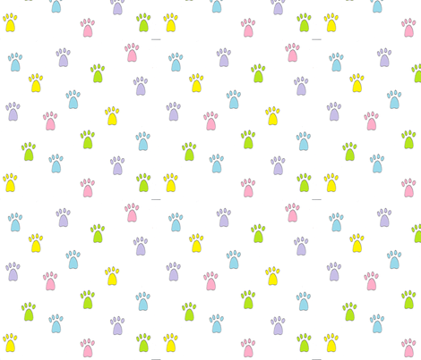 Pastel Paws fabric by aleinoodleknits on Spoonflower - custom fabric