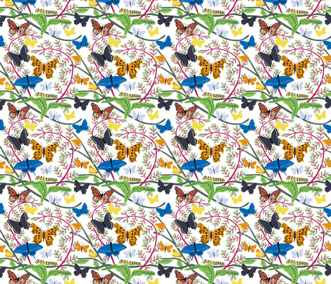 Butterfly_basic_alt_color fabric by vinpauld on Spoonflower - custom fabric