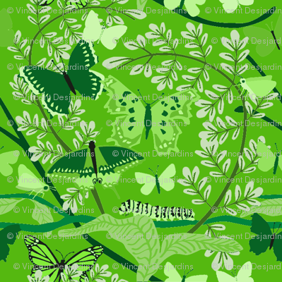 Butterfly Bright Green