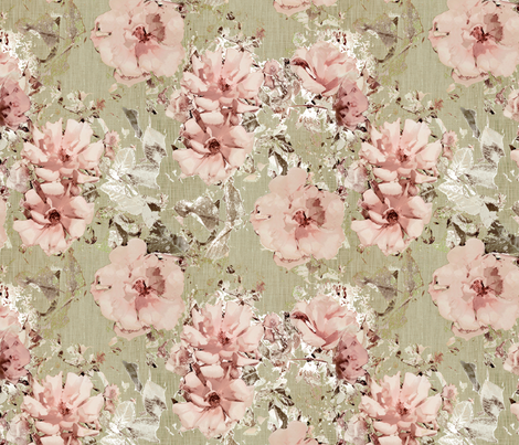 Vintage Shabby Rose fabric by kristopherk on Spoonflower - custom fabric