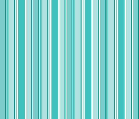 Stripes in aqua fabric by delsie on Spoonflower - custom fabric