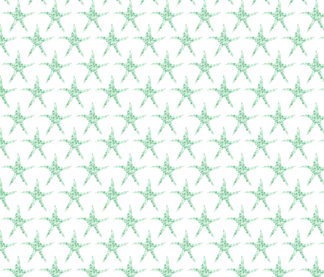 Twinkle twinkle in Seafoam fabric by delsie on Spoonflower - custom fabric