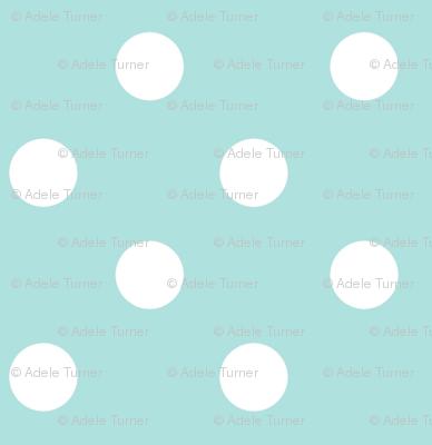 Polkadot in aquamarine