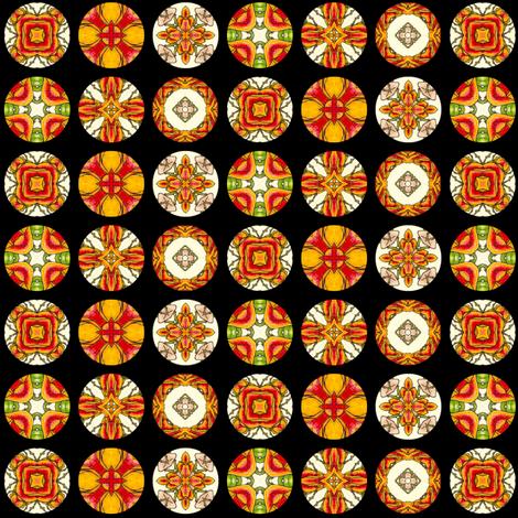 Cyompon's Disks fabric by siya on Spoonflower - custom fabric