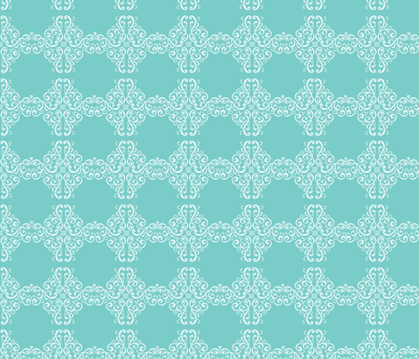 Curliques in Aqua fabric by delsie on Spoonflower - custom fabric
