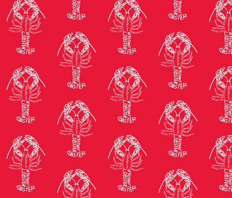 Lobster Calligram fabric by blue_jacaranda on Spoonflower - custom fabric