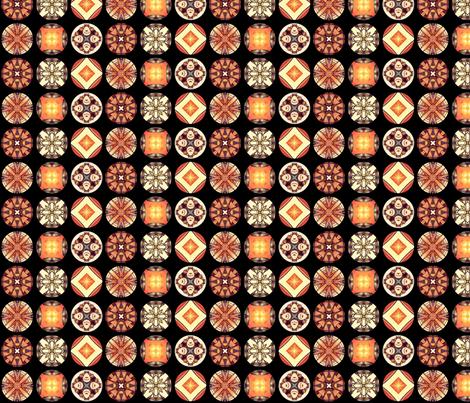 Hatsuhana's Disks fabric by siya on Spoonflower - custom fabric