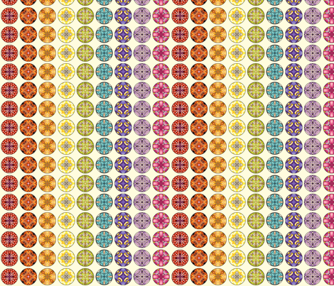 Rainbow Disks - White fabric by siya on Spoonflower - custom fabric