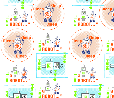 MeepBleepRobot fabric by kelly_kingdon on Spoonflower - custom fabric