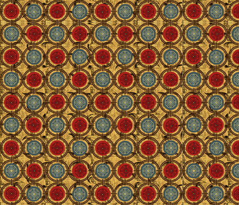 Medieval Circles fabric by poetryqn on Spoonflower - custom fabric