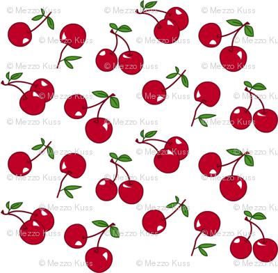 Cherries red x white