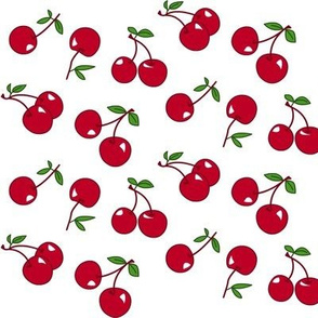 Cherries red x white